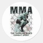 The MMA Thinker Classic Round Sticker