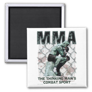 The MMA Thinker Fridge Magnets
