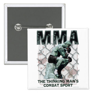 The MMA Thinker Pinback Button