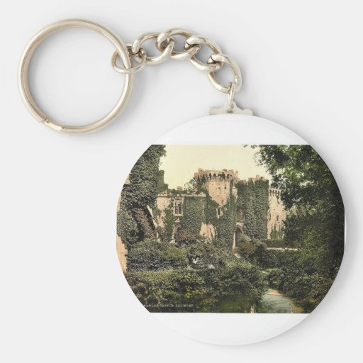 The moat, Raglan Castle, England magnificent Photo Keychains