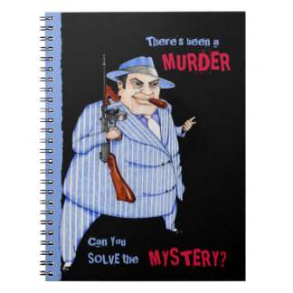 The Mob Boss black Murder Mystery Notebook