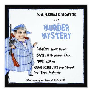 The Mob Boss Murder Mystery Invitation