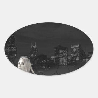 The Mob Movie Oval Sticker