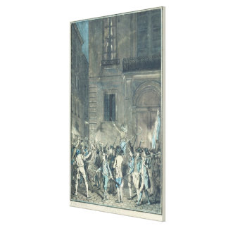 The mob roaming the streets of Paris Canvas Print