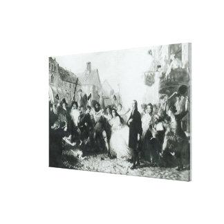 The Mobbing of John Wesley  at Wednesbury Canvas Print