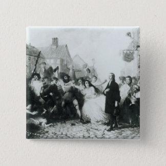 The Mobbing of John Wesley  at Wednesbury Pinback Button