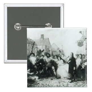 The Mobbing of John Wesley  at Wednesbury Pinback Button