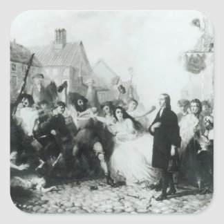 The Mobbing of John Wesley  at Wednesbury Square Sticker