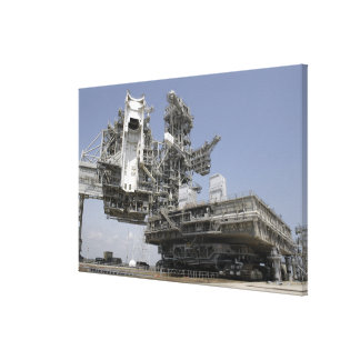 The mobile launcher platform is being moved canvas print