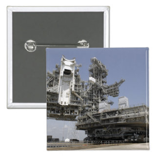 The mobile launcher platform is being moved pinback button