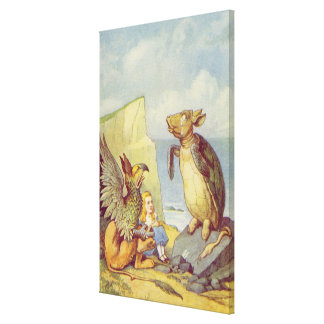 The Mock Turtle and the Gryphon Canvas Print