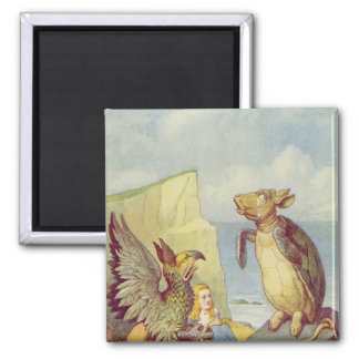 The Mock Turtle and the Gryphon Fridge Magnet