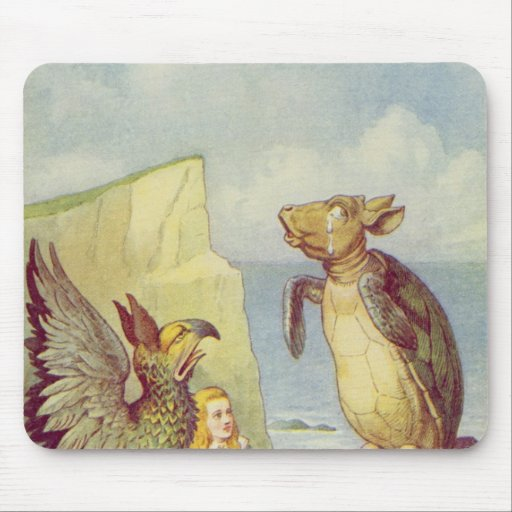 The Mock Turtle and the Gryphon Mouse Pad