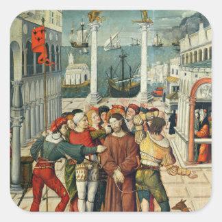 The Mocking of Christ Square Sticker