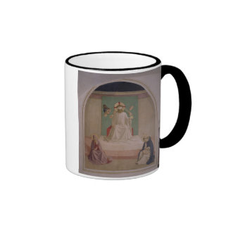 The Mocking of Christ with the Virgin and St. Domi Ringer Coffee Mug