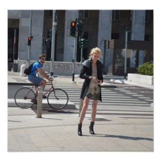 The Model and the Cyclist Poster