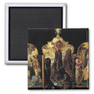 'The Modena Triptych' 2 Inch Square Magnet