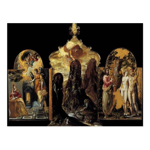 'The Modena Triptych' Postcard