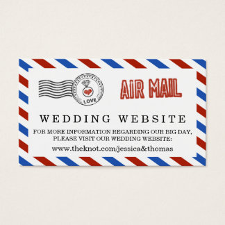 The Modern Airmail Wedding Collection Business Card