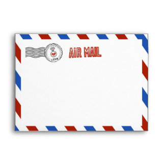 The Modern Airmail Wedding Collection Envelope