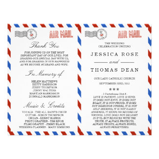 The Modern Airmail Wedding Collection Flyer