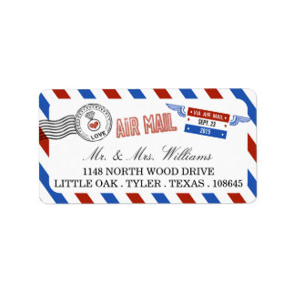 The Modern Airmail Wedding Collection Label