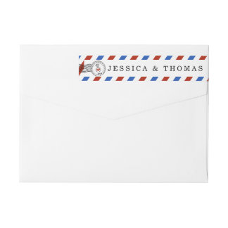 The Modern Airmail Wedding Collection Wrap Around Label