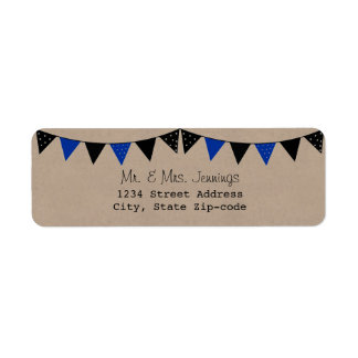 The Modern Blue Bunting Wedding Collection Label