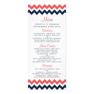 The Modern Chevron Wedding Collection Navy & Coral Rack Card