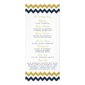 The Modern Chevron Wedding Collection- Navy & Gold Rack Card
