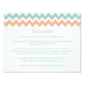 The Modern Chevron Wedding Collection Peach & Mint Card