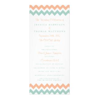 The Modern Chevron Wedding Collection Peach & Mint Rack Card