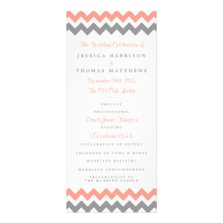 The Modern Chevron Wedding Collection- Pink & Grey Rack Card