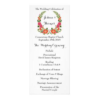 The Modern Floral Wreath Wedding Collection Custom Rack Card