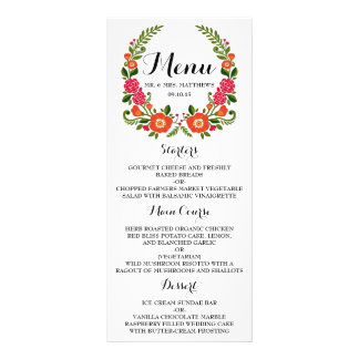 The Modern Floral Wreath Wedding Collection Rack Card Template