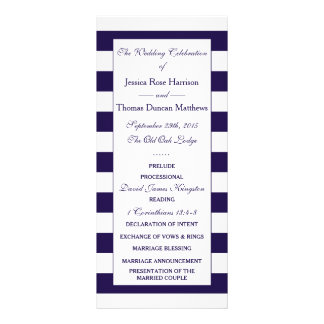 The Modern Navy Stripe Wedding Collection Rack Card