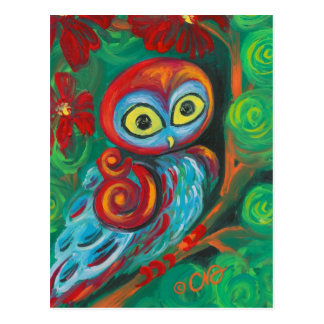 The Modern Painting Owl Art Cards Postcard