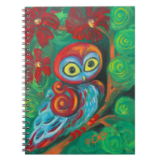The Modern Painting Owl Spiral Notebook