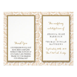 The Modern Paisley Wedding Collection - Brown Flyer