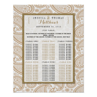The Modern Paisley Wedding Collection - Brown Poster