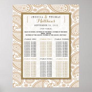 The Modern Paisley Wedding Collection - Brown Print
