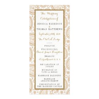The Modern Paisley Wedding Collection - Brown Rack Card
