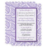 The Modern Paisley Wedding Collection - Purple Invitation