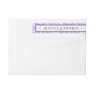 The Modern Paisley Wedding Collection - Purple Wrap Around Label