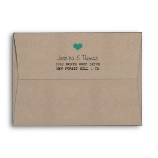The Modern Turquoise Bunting Wedding Collection Envelope