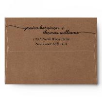 The Modern Whimsical Kraft Wedding Collection Envelope
