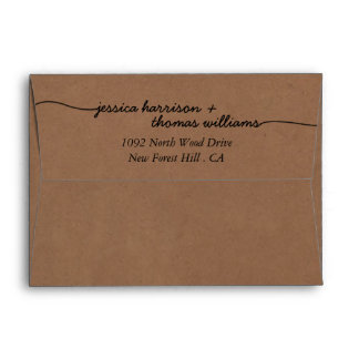 The Modern Whimsical Kraft Wedding Collection Envelope