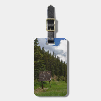 The Moffat Road Pine Trees Colorado Bag Tag