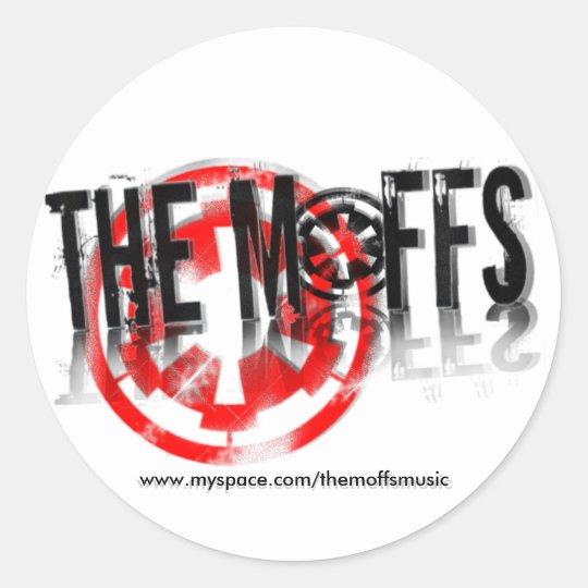 The Moffs Myspace... Classic Round Sticker