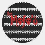 the Mofo's skull logo black Sticker